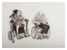 Mum and Dad in Wheelchairs. Gouache on paper. 57cm x 76cm