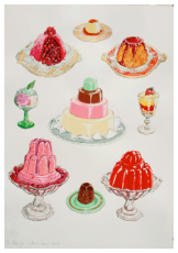 Puddings. Gouache on paper. 76cm x 57cm